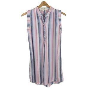 Cloth & Stone Striped Linen Blend Dress XS